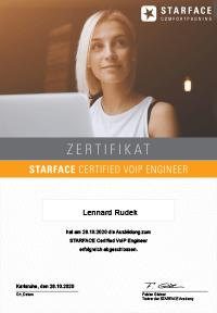 Vorschau Starface-Zertifikat
